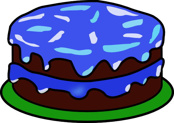 Blue Cake With No Candle Clip Art at Clker.com - vector ...