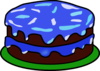Blue Cake With No Candle Clip Art