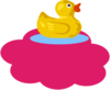 Duck On Pink Cloud Clip Art