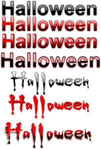 Halloween Text Collection Clip Art