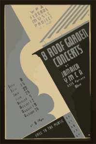 Wpa Federal Music Project Will Present 8 Roof Garden Concerts At Jamaica Ymca Free To The Public. Clip Art