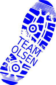 Team Olsen Running Shoe Clip Art