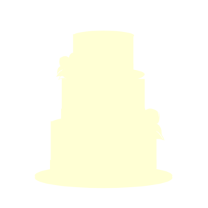 Yellow Wedding Cake Clip Art