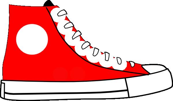 red shoe clip art at clker com vector clip art online royalty rh clker com shoe clip art free shoe clip art borders