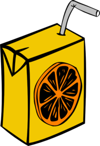 Juice Box Orange Clip Art