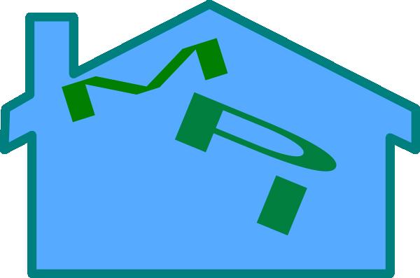 clip art blue house - photo #29