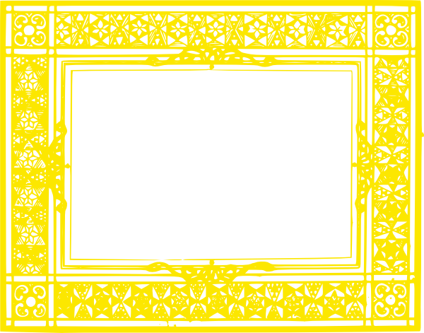 yellow frame clipart - photo #32