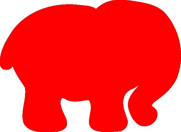 Red Elephant Clip Art at Clker.com - vector clip art online, royalty ...