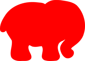 Red Elephant Clip Art at Clker.com - vector clip art ...