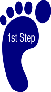 First Step Clip Art
