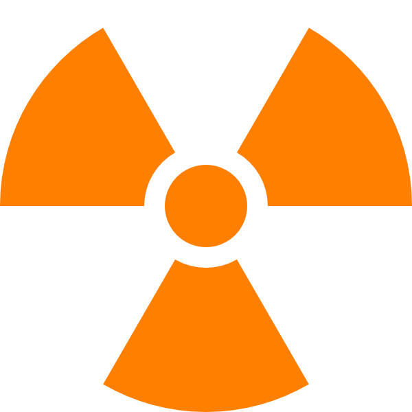 Nuclear Symbol Orange Clip Art at Clker.com - vector clip ...