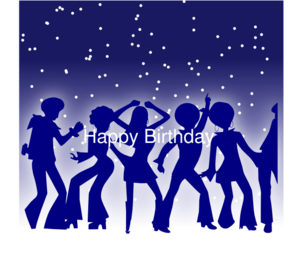 70s Birthday Clip Art