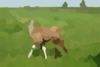 Llama In The Grassland Clip Art