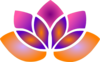 Pink Purple And Orange Lotus Clip Art