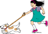 Walking Dog Clip Art