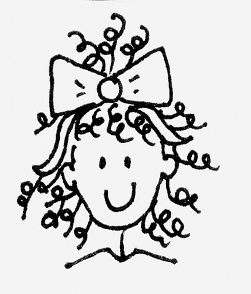 clip art curly hair girl - photo #10