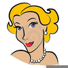 Blonde Girl Clipart Image