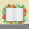 Open Blank Book Clipart Image