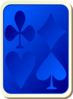Blue Card Back With Game Symbols Clip Art