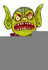 Billy Goats Gruff Troll Clipart Image