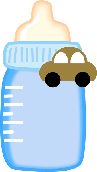 Baby Bottle Clipart Free Images At Clker Com Vector