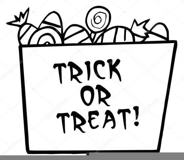 Trick Or Treat Clipart Black And White  Free Images At Clkercom