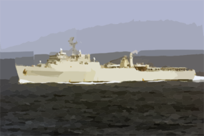 Uss Portland Steams Through The Atlantic Ocean As One Of Seven Ships Attached To Amphibious Task Force-east Clip Art