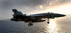 An F/a-18e Super Hornet Assigned To The Eagles Of Strike Fighter Squadron One One Five (vfa-115) Flies Into The Late Afternoon Sky After Launching From Uss John C. Stennis (cvn 74) Image