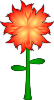 Fire Flower  Clip Art
