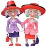 Red Hat Ladies Clipart Image
