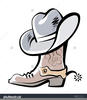 Boots And Cowboy Hat Clipart Image