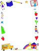 Free Back School Clipart Borders Image