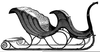 Sleigh And Horses Clipart Image