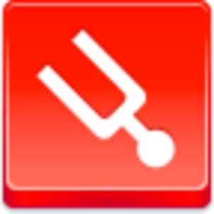 Free Red Button Icons Tuning Fork Image