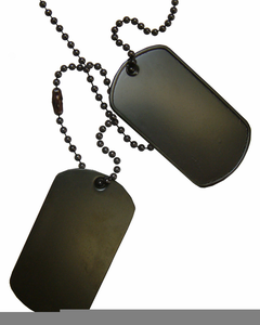 Military Dog Tag Clipart Image