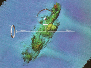 A Detailed Multibeam Image For The Survey  Of Uss Susan B. Anthony (ap-72). Image