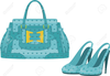 Shoes And Purses Clipart Image