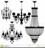Chandelier Silhouette Free Clipart Image