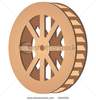 Stock Vector Mill Wheel Image