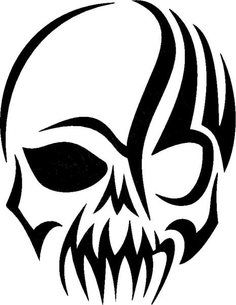 Tribal Skull Art