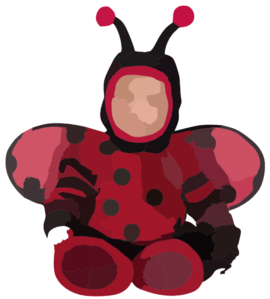 Baby And Toddler Itty Bitty Lady Bug Costume Large Clip Art