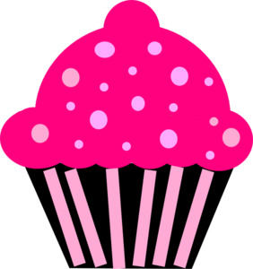 cupcake pink black clip art at clker com vector clip art online rh clker com