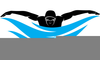 Competitive Swimmer Clipart Image