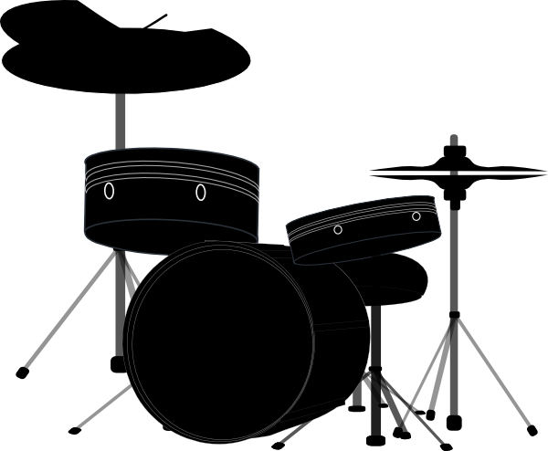 Drums Black2 clipart White Drum Set Silhouette