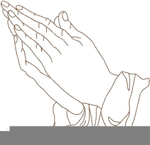 Outline Of Praying Hands Clipart Image