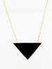 Black Triangle Necklace Image