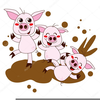 Pig In Mud Clipart Image