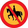 No Horse Riding Sign Clip Art
