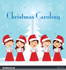 Christmas Carolers Clipart Image
