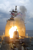 A Tomahawk Land Attack Missile (tlam) Is Launched From The Guided Missile Cruiser Uss Anzio. Image